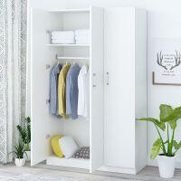 儿童衣柜 木质 组装衣柜木质板式租房大衣橱简易卧室柜子 3门 组装
