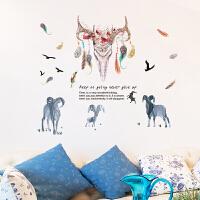 创意墙贴纸儿童房间卧室客厅沙发背景墙装饰餐厅商场橱窗墙壁贴画