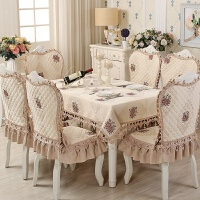 �W式餐桌布餐椅� 套�b餐桌布椅套椅� 套�b餐桌椅子套罩餐椅套家用 +