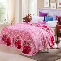 加厚雪貂绒法兰绒毛毯珊瑚绒毯冬季毯子空调毯单人双人盖毯床单