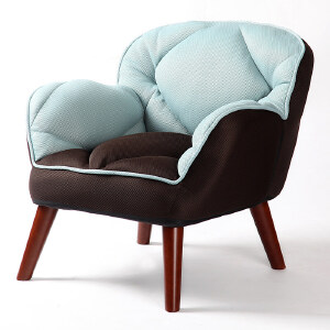 沙发 懒人沙发榻榻米单人布艺沙发凳子小户型免安装休闲沙发椅子家具用品