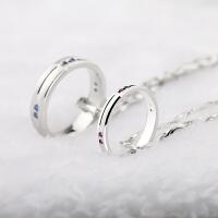 情侣项链一对戒指吊坠男女学生创意生日礼物送女友