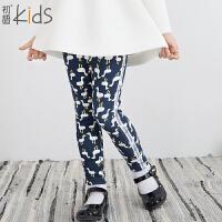 初语童装 冬装 卡通女童打底裤新款儿童裤子T5420310042