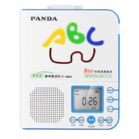 PANDA/熊�F-365英�Z�妥x�C�S身�磁�Рシ�C初中小�W生�和�放磁�У匿�音U�Pmp3插卡可充�正品播放器旗�款 �{色