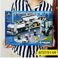 兼容乐高积木男孩子3-6-9周岁10汽车7城市儿童益智警察局拼装玩具