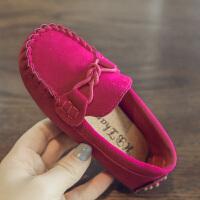 2018春秋季新款儿童鞋子男童皮鞋女童单鞋防滑豆豆鞋宝宝鞋休闲鞋