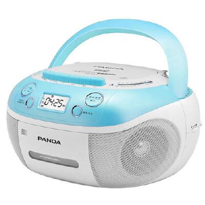 熊猫(PANDA) CD-860 手提式DVD播放机复读机CD机磁带U盘MP3录音机收录机 蓝色 多功能dvd支持磁带转录U盘/卡视频复读