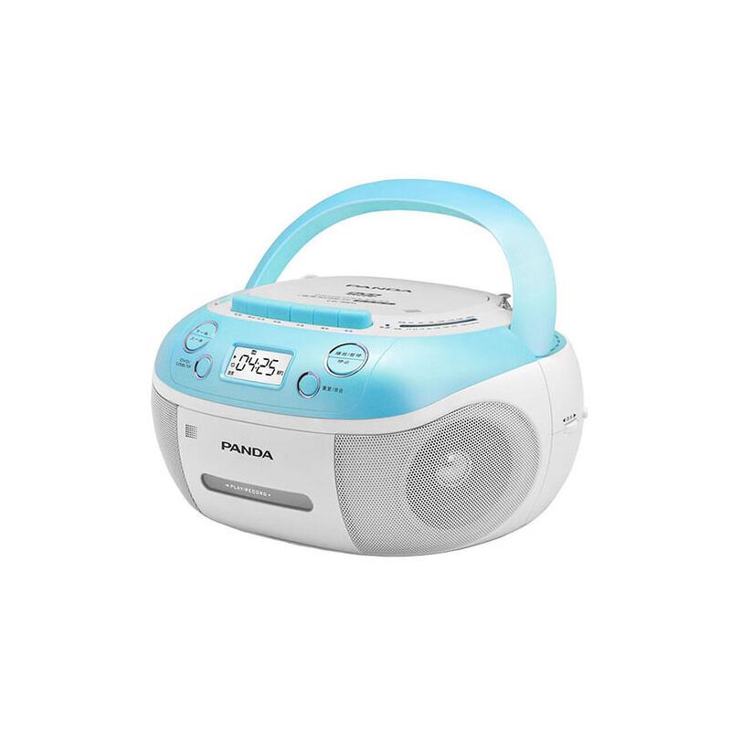 熊猫(PANDA) CD-860 手提式DVD播放机复读机CD机磁带U盘MP3录音机收录机 蓝色多功能dvd支持磁带转录U盘/卡视频复读