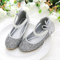 女童公主鞋皮鞋 防滑软底中大童船鞋 魔术贴浅口舞蹈演出皮鞋