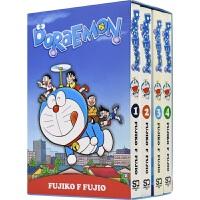 Doraemon 哆啦A梦 4册盒装 经典儿童英语读物 6-9岁 童年漫画 时光机/任意门/竹蜻蜓/时光包袱巾 英文原版