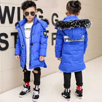 童装冬装男童羽绒服保暖儿童中大童男中长款冬季外套