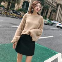 皮裙女2018新款高腰秋冬ins超火裙子包臀裙a字裙小皮裙黑色半身裙