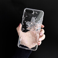 立体可爱独角兽苹果iphonexs/xr透明手机壳678plus少女心软壳防摔 苹果XR 滴胶立体独角兽