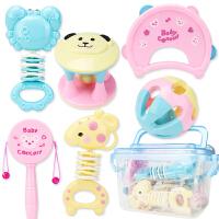 婴儿手摇铃玩具牙胶益智0-3-6-12个月宝宝幼儿新生
