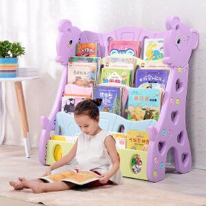 书架 二代儿童书架宝宝卡通书柜小孩家用简易绘本架幼儿园图书架书报架儿童收纳创意家具