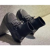 女童鞋子儿童宝宝男童鞋子黑色运动