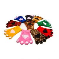 儿童动物表演服手套连体衣配套兔子狸青蛙猴马老虎熊狐狼手套爪子圣诞节演出服配件手套