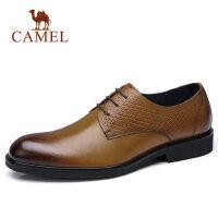 camel 骆驼男鞋春季新品英伦时尚商务正装皮鞋柔软休闲皮鞋