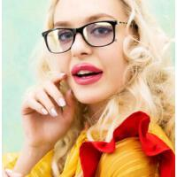 时尚防辐射眼镜近视眼镜框女士抗手机蓝光电脑护目镜眼镜架大 支持礼品卡
