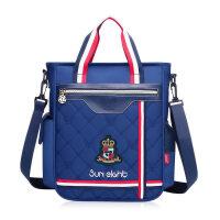 2018新款小学生补习袋手提包补课包男女美术袋儿童斜挎包手拎购物 2526款 宝蓝色