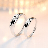 情侣戒指女男款 LOVE对戒简约指环饰品活口可调大小创意