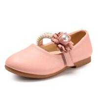 女童公主皮鞋2017春秋新款韩版儿童豆豆鞋中大童轻便软底女孩单鞋