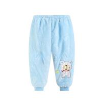 婴儿保暖加绒裤子男女宝宝长裤婴幼儿1-3岁秋冬小童加厚大pp棉裤