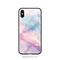 粉色大理石苹果7手机壳iphone xs max女款7plus玻璃8简约潮六6plus软边少女 X 仙女石