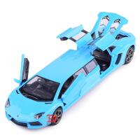 仿真兰博LP700加长版声光回力儿童玩具合金车模型