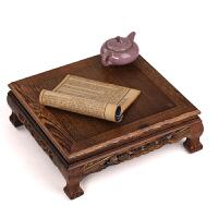 小茶几炕几飘窗桌 大底座花架盆景架 红木家具 鸡翅木中式四方桌