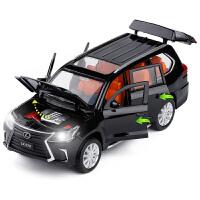 1:32雷克萨斯LX570凌志越野车6开门声光回力金属汽车模型玩具
