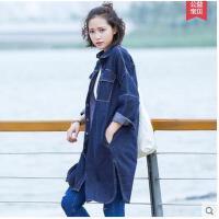 新款春季韩版学生大码时尚宽松中长款薄款外套牛仔风衣女装