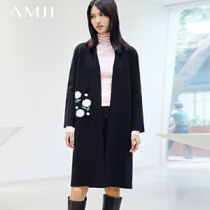 AMII[极简主义]秋冬装新品保暖中长款长袖毛衣外套女11672867