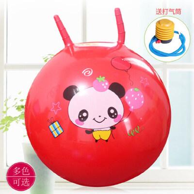 幼儿园户外运动充气皮球跳跃玩具加厚款儿童羊角球跳跳球手柄球