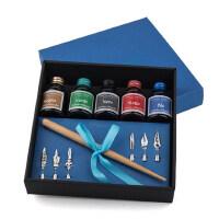 顺丰包邮Campo Marzio多彩墨水钢笔 蘸水笔 学生成人练字钢笔礼盒