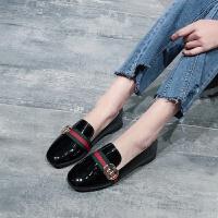 女鞋春秋新款豆豆鞋女学生韩版夏社会妈妈鞋单鞋平底鞋百搭小皮鞋