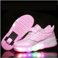 发光儿童暴走鞋带灯男童鞋LED溜冰鞋成人暴走鞋运动轮子女童鞋闪灯童鞋