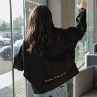 【直降】唐狮春装新款牛仔外套女学生韩版宽松bf风短款牛仔衣工装外套
