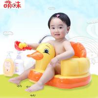 萌味 充气凳 儿童多功能便携充气座椅子加宽加厚宝宝餐椅座垫小沙发婴儿男女孩子休闲戏水玩具