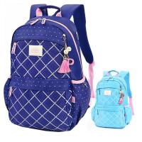 迪士尼学生背包 PL0220创意女生书包 深蓝色/浅蓝色双肩包 休闲包