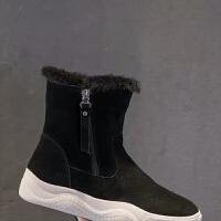 亏本2019新款雪地靴女学生平底短靴冬季加绒保暖防滑棉鞋子女