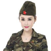 水兵舞船形帽保安帽俄罗斯军帽男女广场舞女士演出表演贝雷帽 可调节