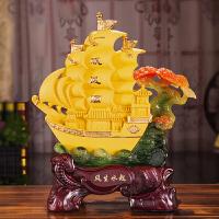 一帆风顺帆船摆件工艺品家居摆设办公室酒柜乔迁新居装饰品