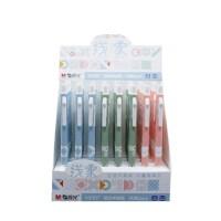 晨光H2107中油笔 蓝色0.5mm圆珠笔 线象系列原子笔 外壳颜色随机