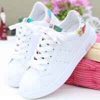 春季新款系带小白鞋女百搭韩版白色运动鞋板鞋平底学生透气单鞋夏季百搭鞋 35 标准尺码