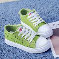 春季帆布鞋女鞋子学生韩版百搭原宿夏季小白鞋平底板鞋透气布鞋单 绿色 907 34 标准码