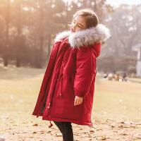 女童羽绒服中长款2017新款儿童大女童外套加厚保暖宝宝冬装