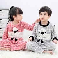 儿童睡衣男童秋冬季长袖女童珊瑚绒小孩家居服宝宝套装