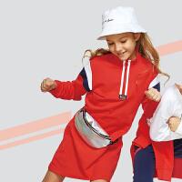 【儿童节立减价:90.7】361度女童针织连衣裙2020年春季新品 K61933408