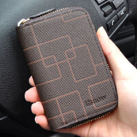 男士钥匙包匙钥包多功能锁匙包卡包零钱包一体迷你简约超薄二合一